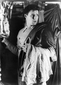 A 24-year-old Marlon Brando on the set of the Broadway production of A Streetcar Named Desire, 1948