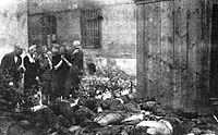 Corpses of victims murdered by Stalin's NKVD in the last few days of June 1941, just after the outbreak of war