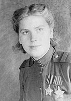 Roza Shanina was a graduate of the Central Women's Sniper Training School. About 800,000 women served in the Soviet Armed Forces during the war