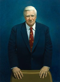 """Representative Thomas """"Tip"""" O'Neill was Speaker of the House (1977–1987) and was the highest ranking Democrat in Washington, D.C. during most of Reagan's term"""