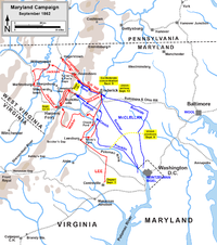Maryland Campaign, actions September 3 to September 15, 1862