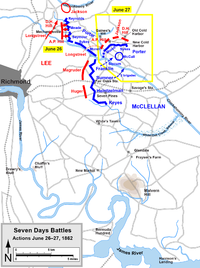 June 26–27, 1862. Battles of Mechanicsville and Gaines's Mill
