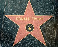 Trump's star on the Hollywood Walk of Fame