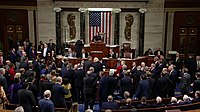 Members of House of Representatives vote on two articles of impeachment, December 18, 2019