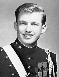 Trump at the New York Military Academy in 1964