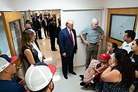 President Trump, the First Lady, and Senator John Cornyn meeting with survivors of the 2019 El Paso shooting.