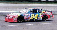 """Jeff Gordon's """"Rainbow Warrior"""" paint scheme is considered one of Bass' most well-known works."""