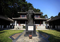 Statue of the Neo-Confucian scholar Zhu Xi at the White Deer Grotto Academy in Lushan Mountain