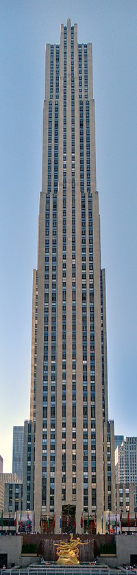 """Comcast Building (30 Rockefeller Plaza, or """"30 Rock"""") from which the show is broadcast"""