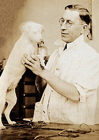 Frederick Banting, Nobel Laureate in Medicine and the first person to use insulin on humans