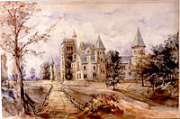 Painting of University College, 1859.