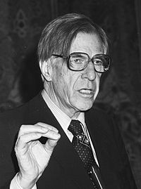 John Kenneth Galbraith, noted economist and a leading proponent of 20th-century American liberalism