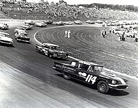 Glen Wood driving the second place 21 in 1958