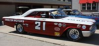 1963 Tiny Lund/Wood Brothers NASCAR car or replica