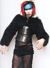 """Manson as Mechanical Animals antagonist/character """"Omega"""""""