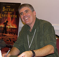 Rick Riordan (pictured) came up with The Heroes of Olympus after toying with the idea of Roman gods.