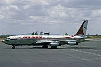 Air India became the first Asian carrier to induct a jet aircraft, with the Boeing 707–420 Gauri Shankar.