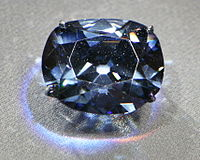 Many famous stones such as the Koh-i-Noor and Hope Diamond (above), came from India.