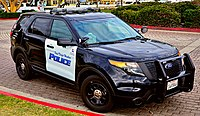 Ford Police Interceptor Utility operated by the San Diego Harbor Police Department.
