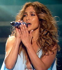 Lopez performing during her Dance Again World Tour in Paris, France, October 2012