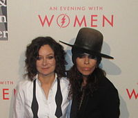 Perry with her wife Sara Gilbert at the Los Angeles LGBT Center's An Evening with Women event in 2014