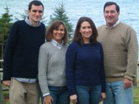 Donnelly with his wife and their two children
