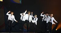 BTS performing at KCON France in Paris on June 2, 2016.