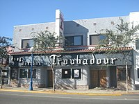 Exterior of the nightclub Troubadour (photo taken 2006) where BTS held their first concert in the United States for free.