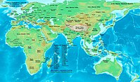 Eastern Hemisphere at the beginning of the 12th century.