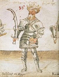 A 15th-century depiction of Saladin
