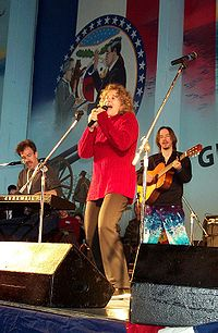 Carole King performing aboard USS Harry S. Truman in the Mediterranean in 2000