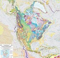 Geologic Map of North America published by USGS