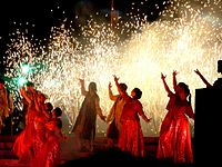 Bollywood dances usually follow or are choreographed to filmi Bollywood songs.