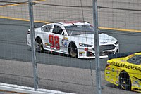 Hill's No. 98 Cup car for Premium Motorsports at New Hampshire in 2015