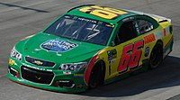 Hill's No. 66 Cup car for MBM Motorsports at Dover in 2017