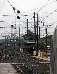 """""""K"""" Tower, north of Washington Union Station, is the only remaining interlocking tower on the Northeast Corridor south of Philadelphia"""