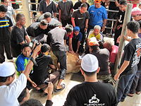 One important tradition for Eid al-Adha is sacrificing an animal