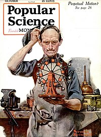 Cover of October 1920 issue of Popular Science magazine