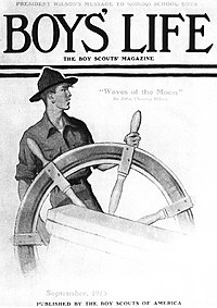 Scout at Ship's Wheel, 1913