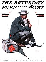 Saturday Evening Post cover from Rockwell's painting years (Sep 27, 1924)