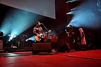 Manic Street Preachers playing live in 2010