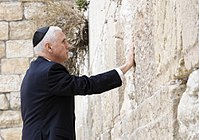 Pence visits the Western Wall in Jerusalem.