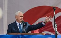 Pence speaks at the 2017 March for Life in Washington, D.C.