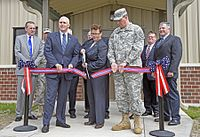 Governor Pence at the dedication of a new veterans' clinic, March 30, 2016