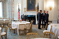 Governor Pence (right) with President Barack Obama (left) and Vermont Governor Peter Shumlin, February 25, 2013