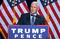 Pence speaks at a campaign rally in Phoenix, Arizona, August 2016.