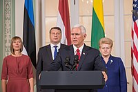 Joint press conference with the Baltic states presidents and Pence, July 31, 2017