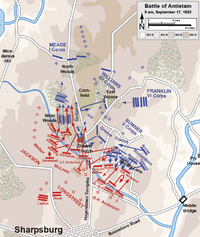 Assaults by the XII and II Corps, 9 a.m. to 1 p.m.