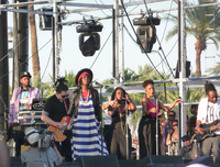 Hill and her backing musicians performing at 2011 Coachella Valley Music and Arts Festival