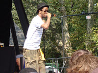Kid Cudi performing at Central Park Summerstage in New York City, in 2008